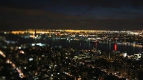 Scène de nuit de New York City banque de vidéos