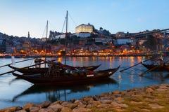 Scène de nuit de Porto, Portugal Photos libres de droits