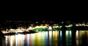 Scène de nuit de Sozopol, Bulgarie Images libres de droits