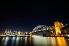 Scène de nuit de Sydney Harbour Image stock