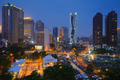 Scène de nuit de Taichung, Taïwan Image libre de droits