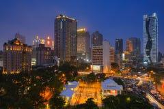 Scène de nuit de Taichung, Taïwan Photographie stock libre de droits
