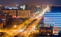 Scène de nuit de ville de Changhaï Image stock