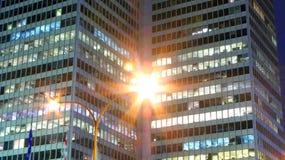 Scène de nuit de ville de Montréal Images stock