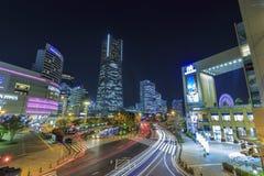 Scène de nuit de Yokohama Photographie stock libre de droits
