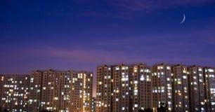 Scène de nuit des immeubles Image stock