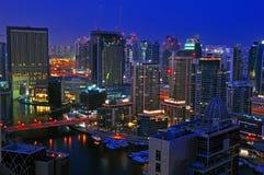 scène de nuit du Dubaï Photo stock