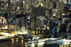 Scène de nuit du Kowloon photo stock