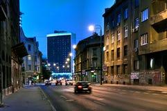 Scène de nuit, Novo Sarajevo, Bosnie-Herzégovine Photos stock