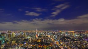 Scène de nuit de Tokyo, Japon Photographie stock libre de droits