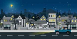 Scène de nuit de ville Images libres de droits