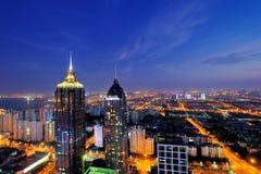 Scène de nuit de ville de PETITE GORGÉE de Suzhou Photographie stock