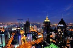 Scène de nuit de ville de PETITE GORGÉE de Suzhou Image stock