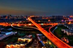 Scène de nuit de ville de PETITE GORGÉE de Suzhou Image libre de droits