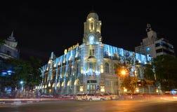 Scène de nuit de Yangon, Myanmar Images libres de droits