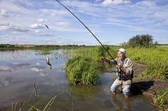 Scène de pêche Photo libre de droits