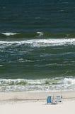 Scène de pêche de plage Photo stock