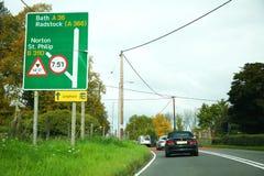 Scène de panneau routier photos stock