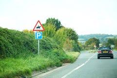 Scène de panneau routier images stock