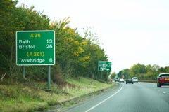 Scène de panneau routier image stock