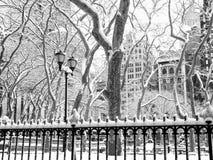 Scène de parc d'hiver Photos stock