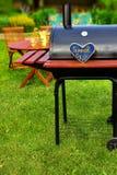 Scène de partie d'arrière-cour d'été de BBQ Photo libre de droits