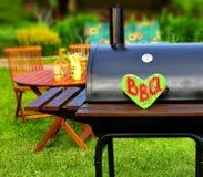 Scène de partie d'arrière-cour d'été de BBQ Images libres de droits