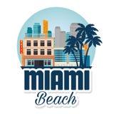 Scène de paysage urbain de Miami Beach Photographie stock