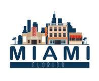 Scène de paysage urbain de Miami Beach Photo stock