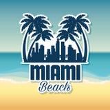 Scène de paysage urbain de Miami Beach Images libres de droits