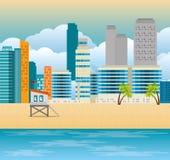 Scène de paysage urbain de Miami Beach Images stock