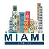 Scène de paysage urbain de Miami Beach Image libre de droits