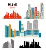 Scène de paysage urbain de Miami Beach Photo libre de droits