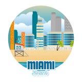 Scène de paysage urbain de Miami Beach Photos stock