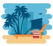 Scène de paysage urbain de Miami Beach illustration libre de droits
