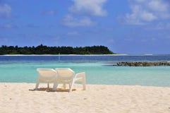 Scène de plage Photo libre de droits