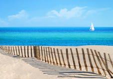 Scène de plage Photographie stock libre de droits