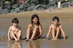 Scène de plage Image libre de droits