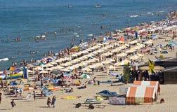 Scène de plage, Bulgarie Image libre de droits