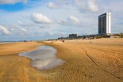 Scène de plage chez Zandvoort, Pays-Bas image stock