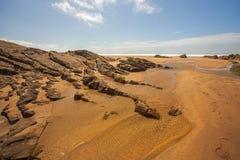 Scène de plage de Bude Photographie stock