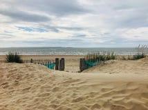 Scène de plage de Llandudno prise des dunes Photos libres de droits