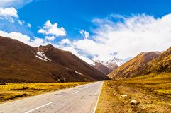Scène de plateau tibétain photo libre de droits