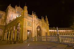scène de plaza de nuit d'espagna de d Photos libres de droits