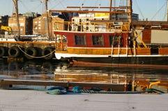 Scène de port d'Oslo Photos libres de droits