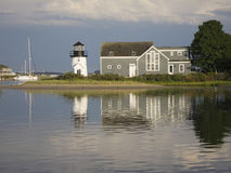 Scène de port de la Nouvelle Angleterre Image libre de droits