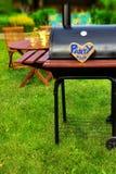 Scène de réception en plein air d'été de BBQ Image libre de droits