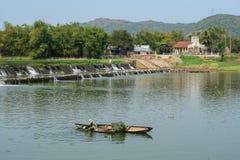 Scène de rivière dans Phu Yen, Vietnam Image libre de droits
