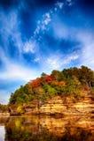Scène de rivière de vallons du Wisconsin Photographie stock libre de droits