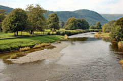 Scène de rivière, Llanrwst, Pays de Galles Photos libres de droits
